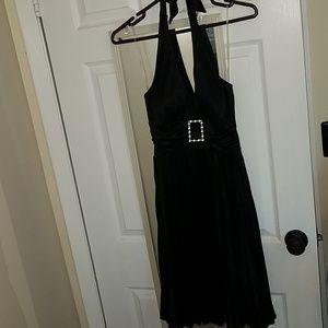 Beautiful Black pleated Halter dress